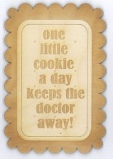 Wenskaart a cookie a day keeps the doctor away